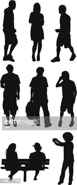 people out on the street - camera stand stock illustrations, clip art, cartoons, & icons
