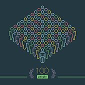 100 People - Pixel perfect Infographic - Male Team Leader