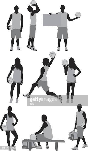 people playing basketball - sleeveless stock illustrations, clip art, cartoons, & icons