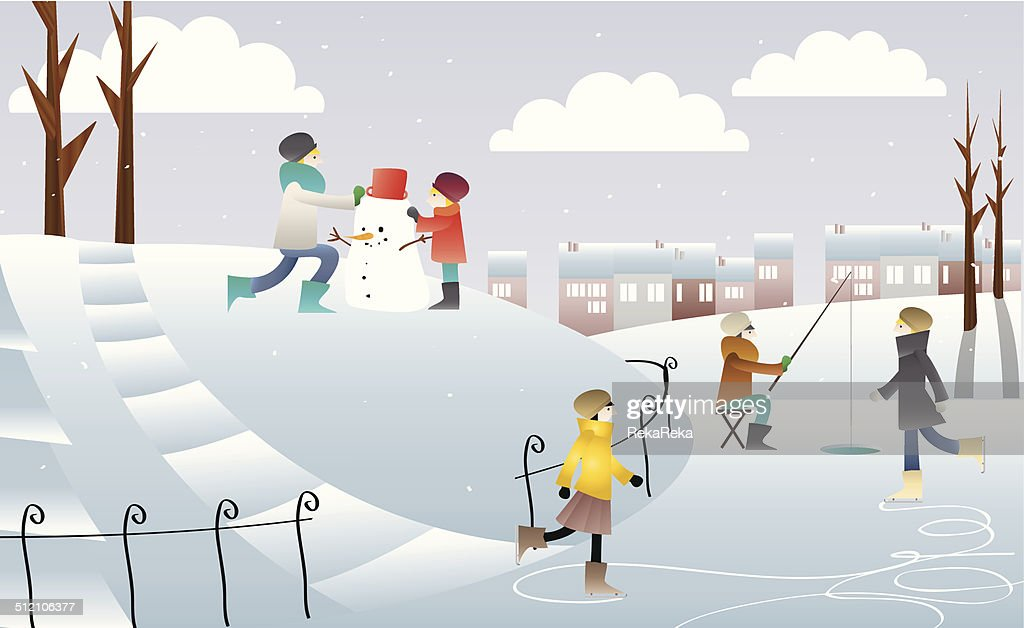People playing on snow.