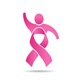 People Power Pink Ribbon. Vector  Illustration