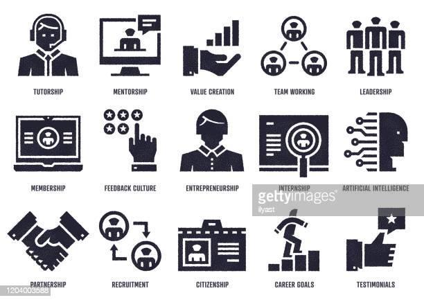 ilustrações de stock, clip art, desenhos animados e ícones de people process rewards sketch design vector icon pack - cidadania