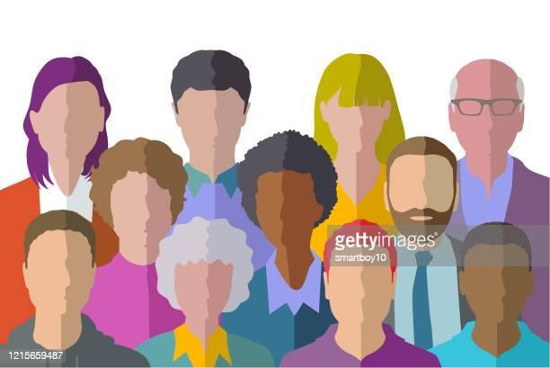 ilustrações de stock, clip art, desenhos animados e ícones de people profile icons - cidadania