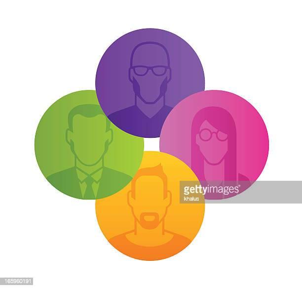 mitarbeiter-profil - zielgruppe stock-grafiken, -clipart, -cartoons und -symbole