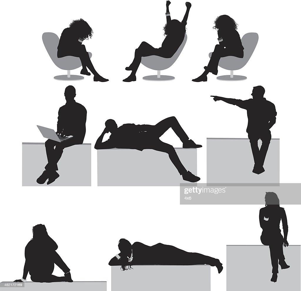 Menschen Ruhen : Stock-Illustration