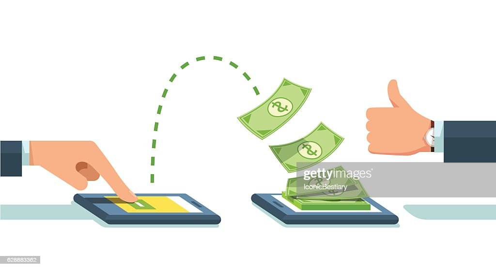 People sending and receiving money wirelessly