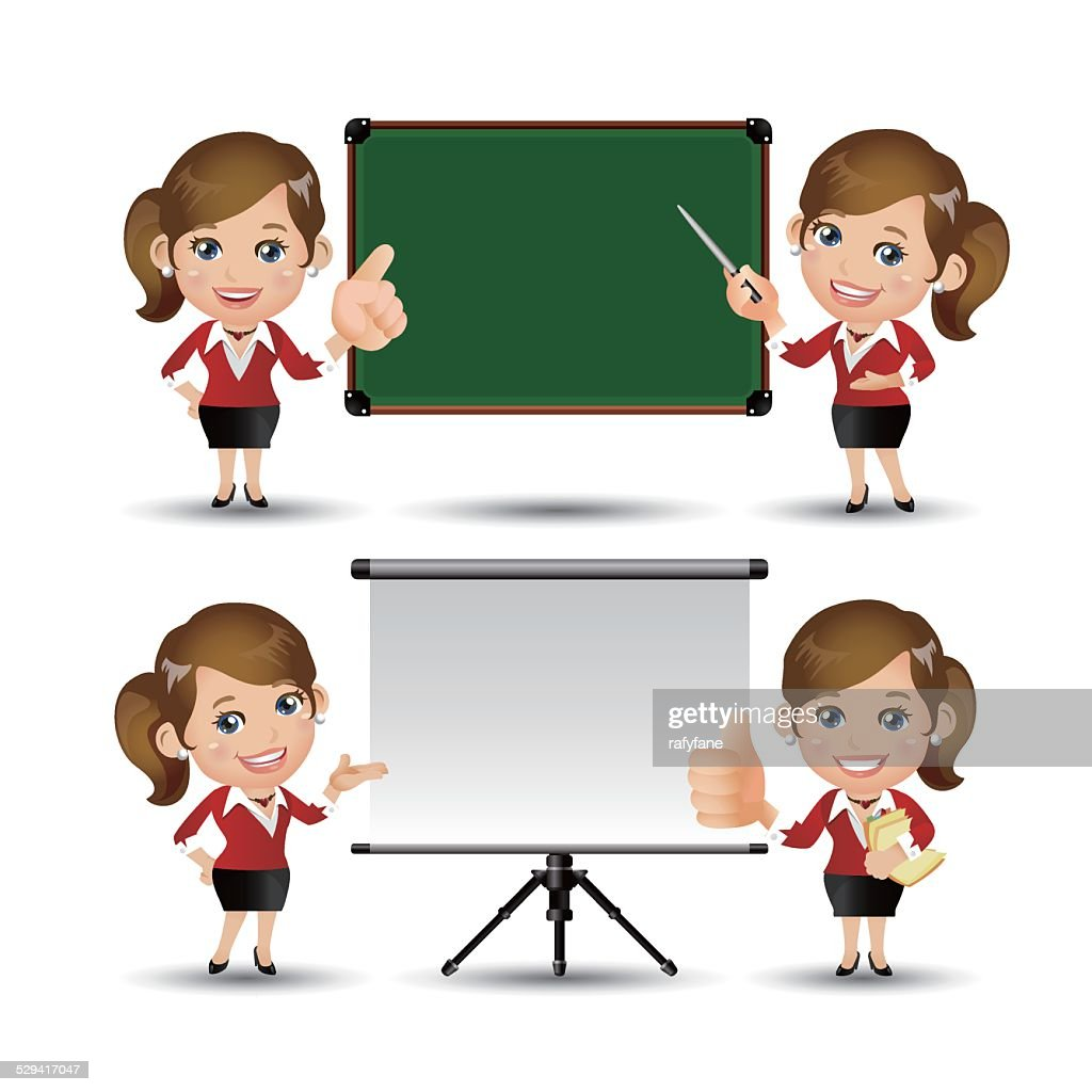 People Set - Business - women giving presentation