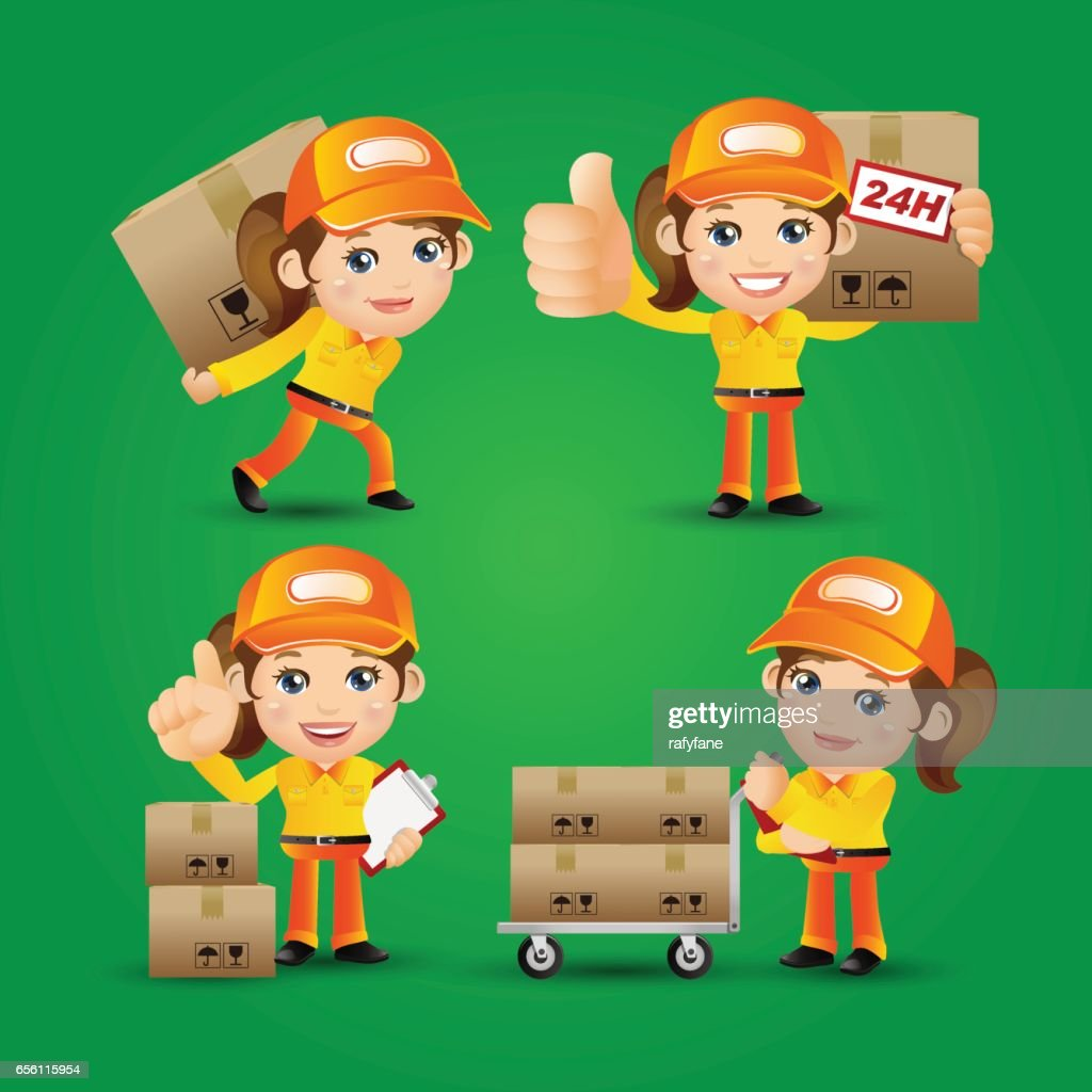 People Set - Profession - Delivery person set