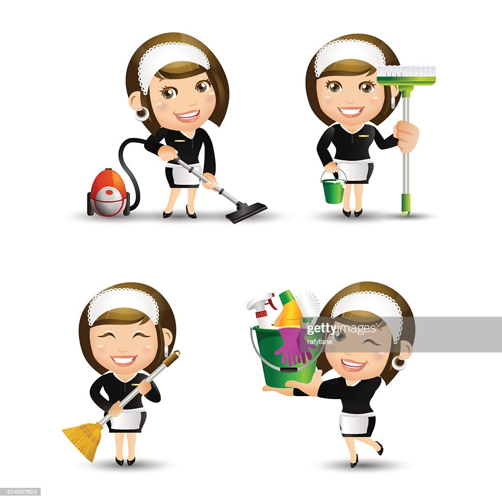 People Set - Profession - Housekeeper