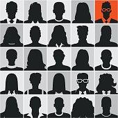 people silhouettes, avatars