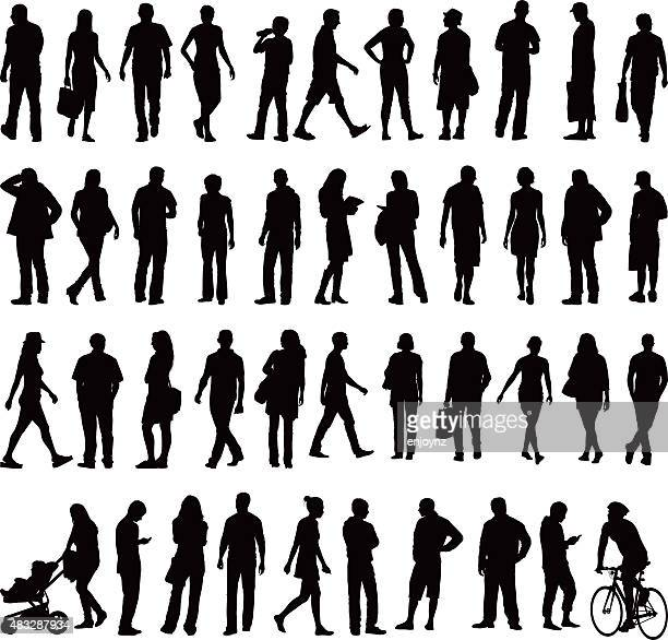 people silhouettes - three wheeled pushchair stock illustrations, clip art, cartoons, & icons