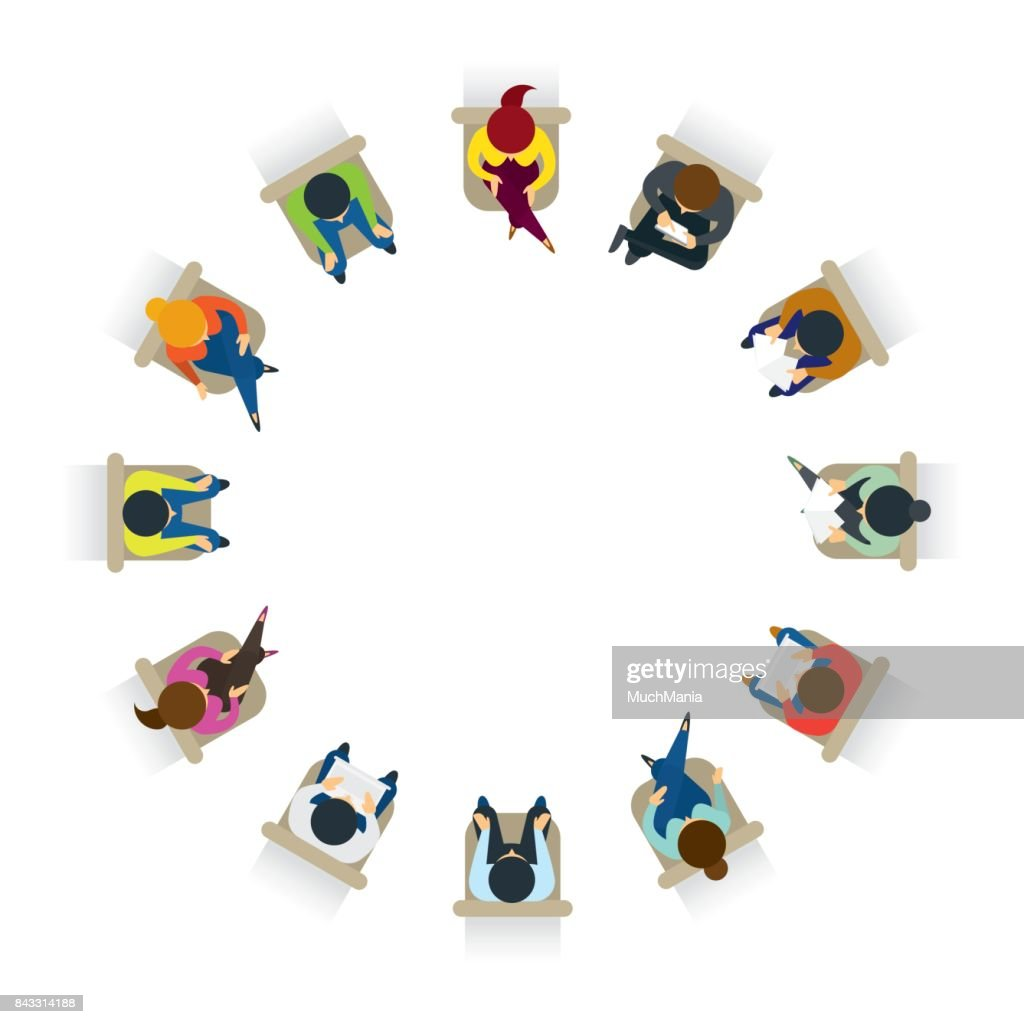 People Sitting on Chairs in Circle Form