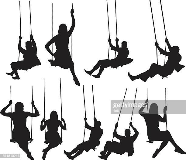 People swinging