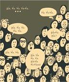 People talking- cartoon characters