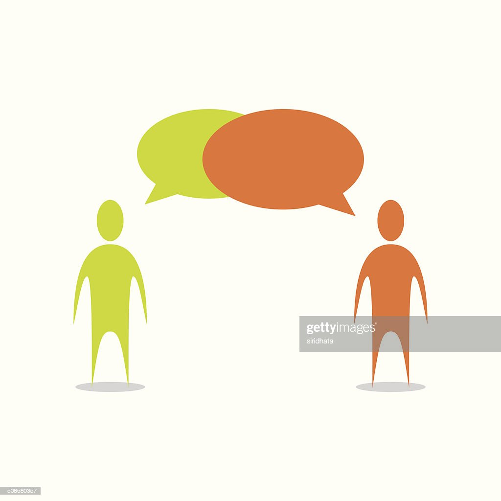 People Talking Illustration : Vector Art