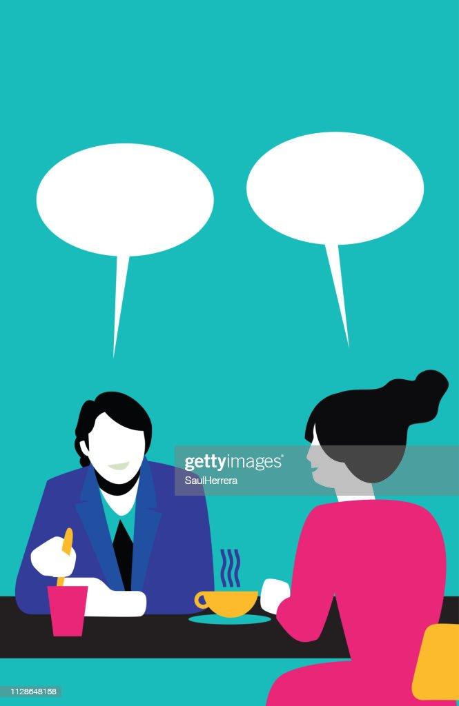People Talking : stock illustration