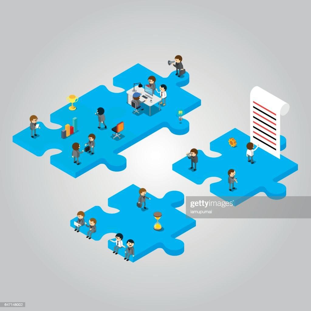 People team working
