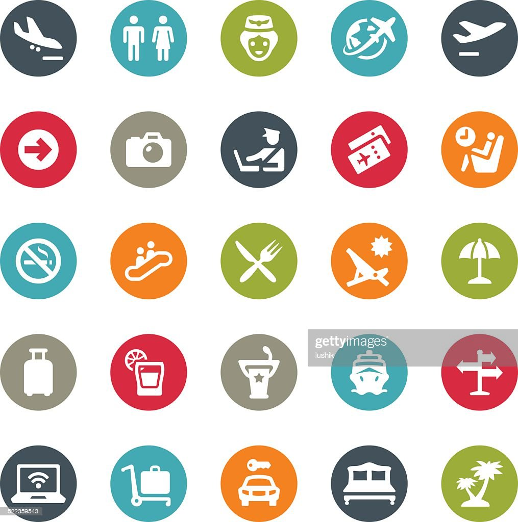 People Traveling icons / Ringico series