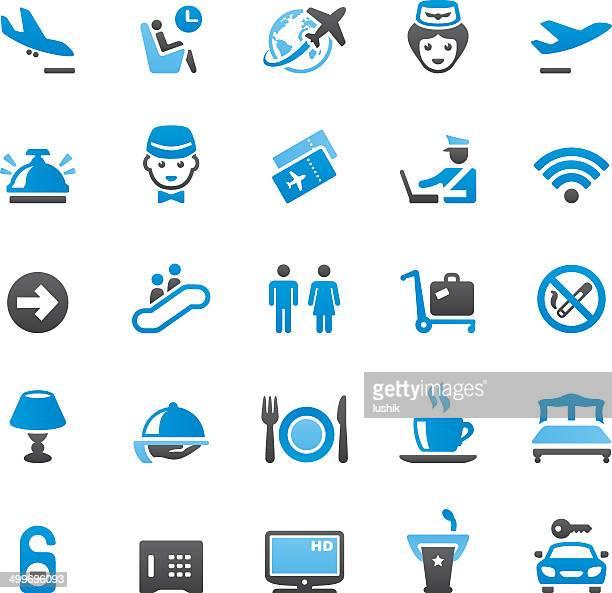 People Traveling icons set