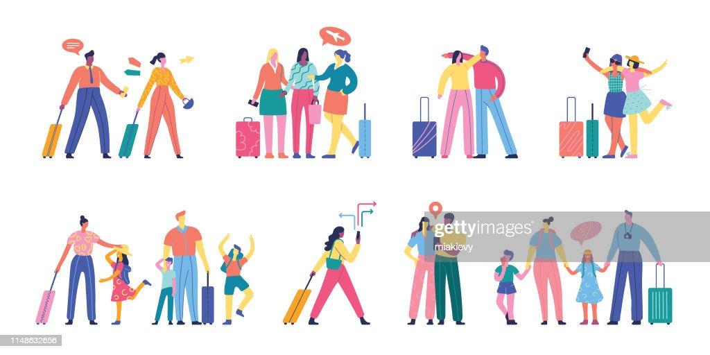 Personnes voyageant ensemble : Illustration