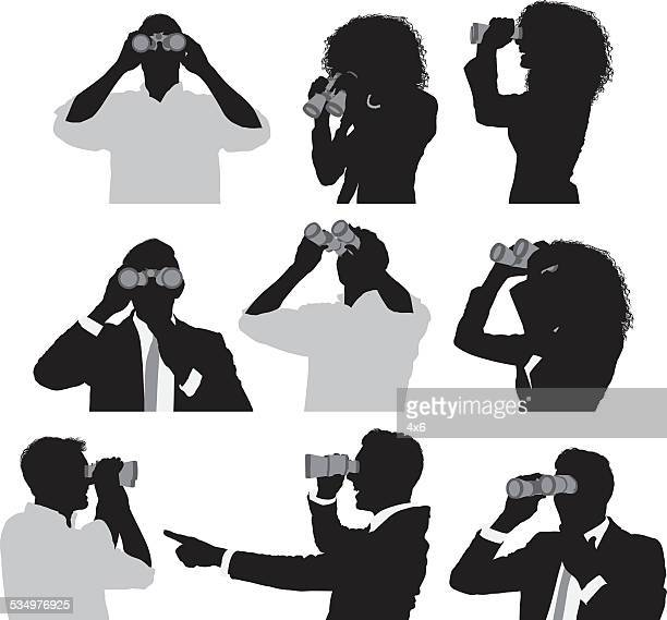 People using binocular