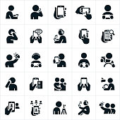 People Using Smartphones Icons