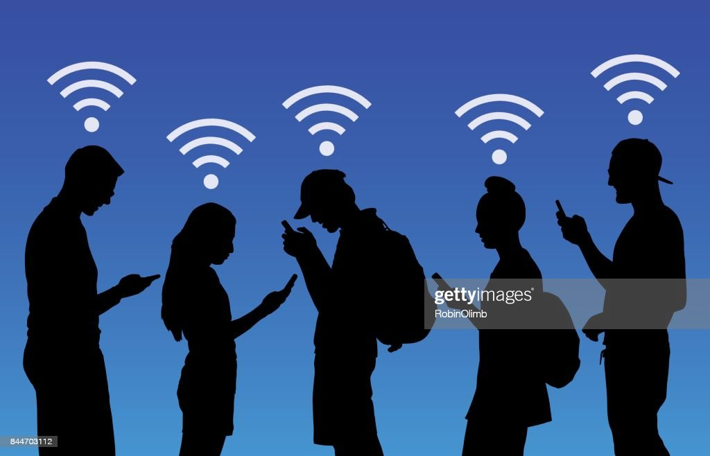 People Using Wireless Smart Phones
