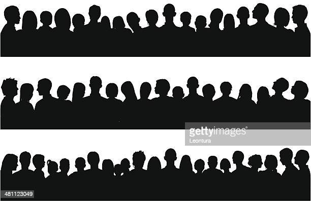 People (69 Complete, Moveable Silhouettes- Clipping Path Hides the Legs)