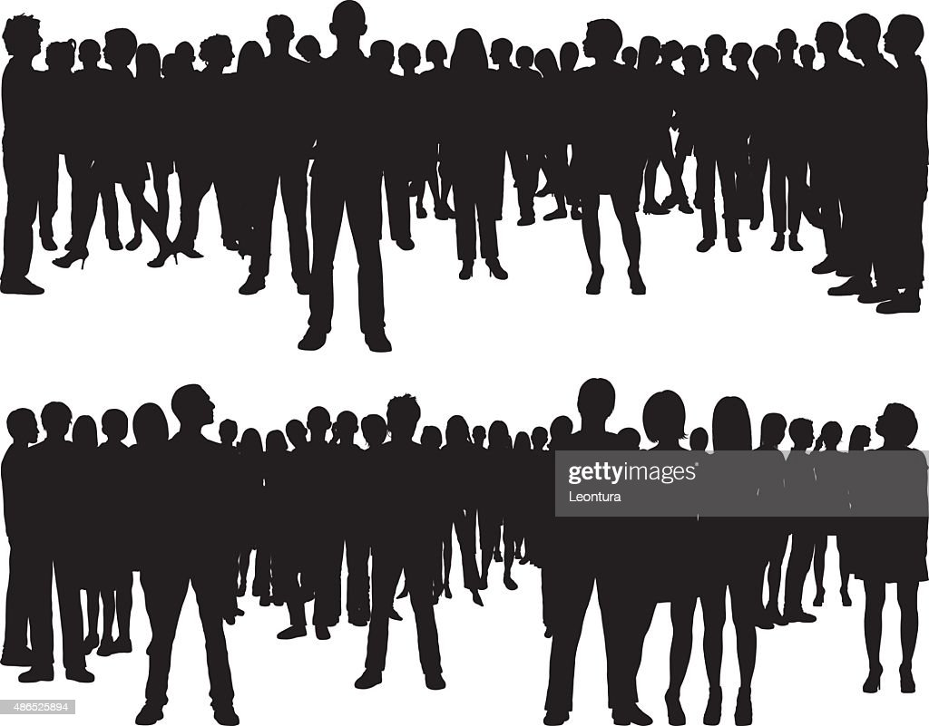 People (68 Complete, Moveable Silhouettes) : stock illustration
