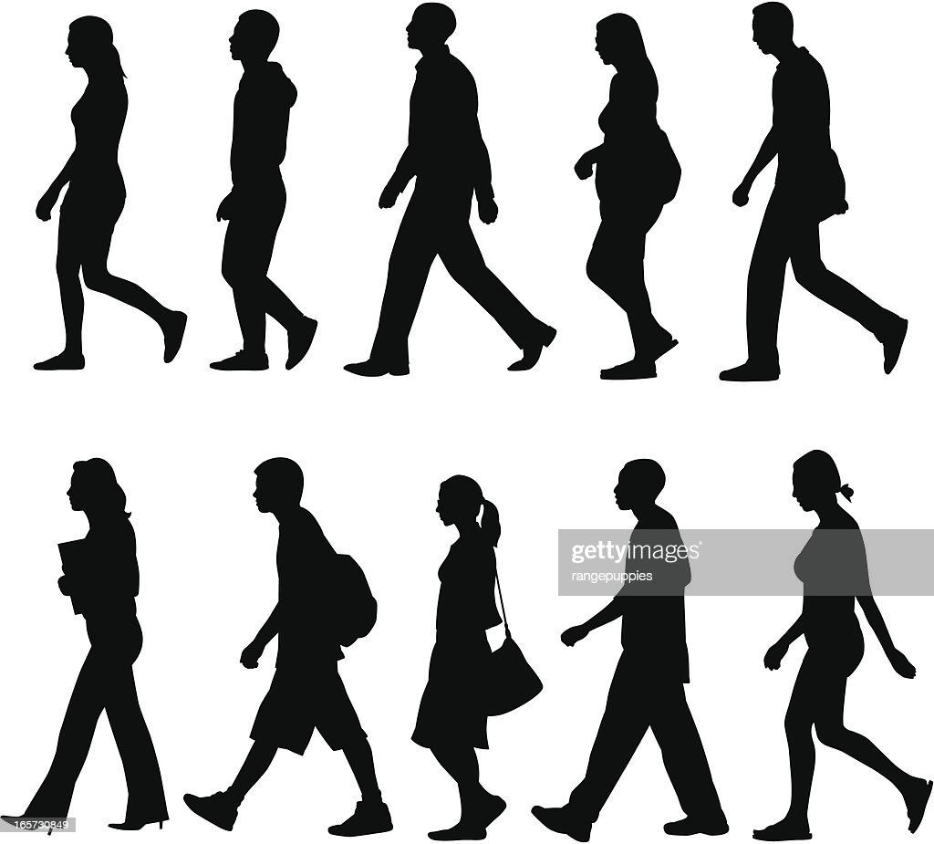 People Walking : stock illustration