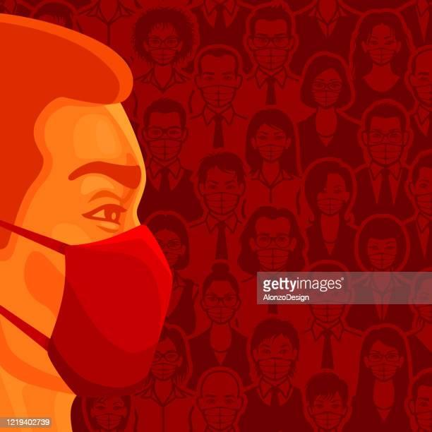 ilustrações, clipart, desenhos animados e ícones de pessoas usando máscaras faciais médicas - female surgeon mask