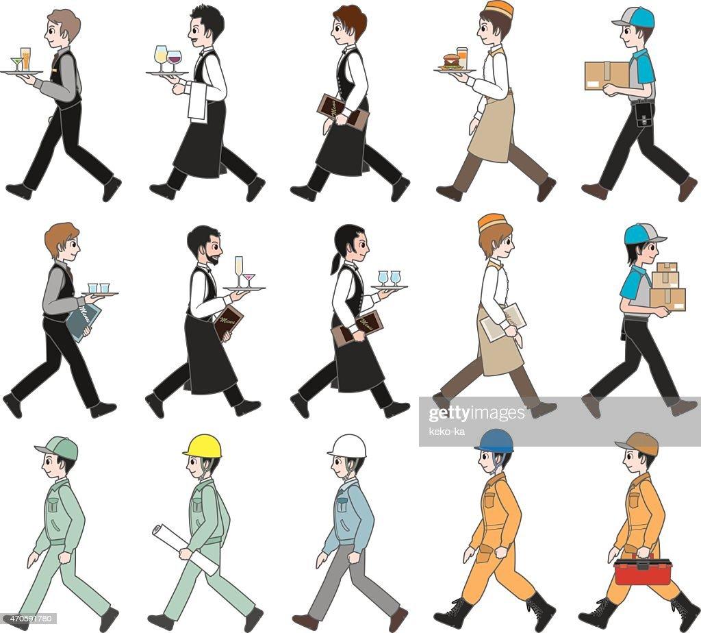 People who work / Walking