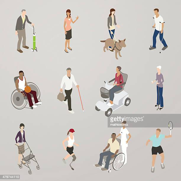 people with disabilities illustration - disability stock illustrations, clip art, cartoons, & icons