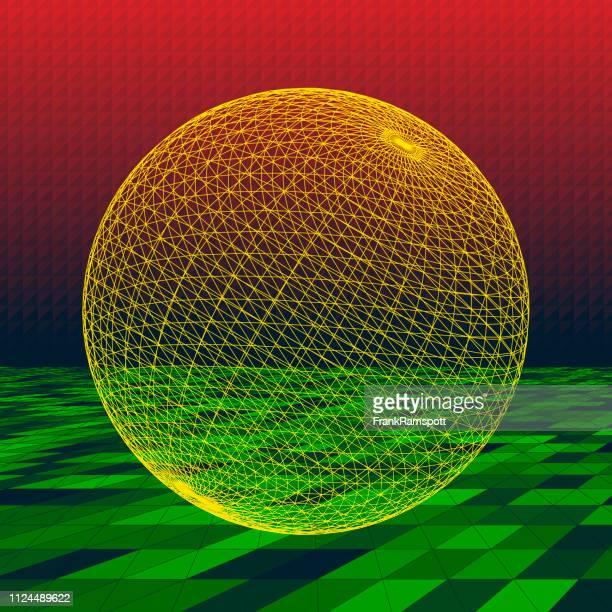 Pfeffer abstrakte 3D-Vektor Kugel