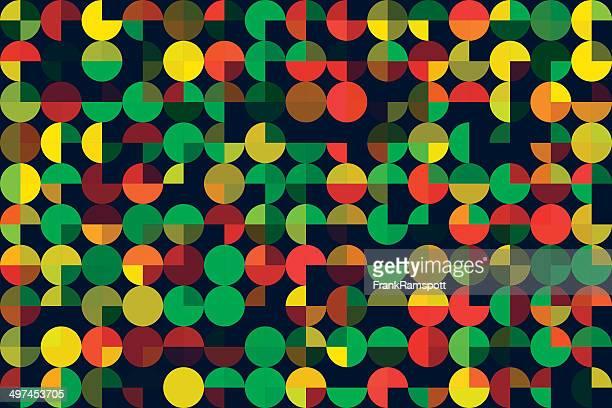 Pimenta geométricas círculo redondo padrão Horizontal