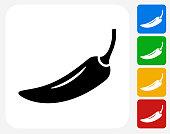 Pepper Icon Flat Graphic Design