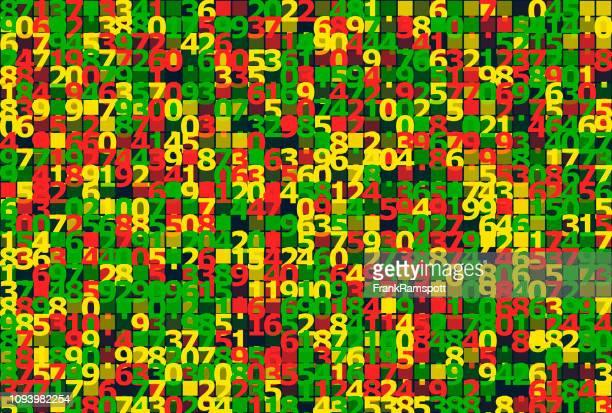Pfeffer-Nummern Square Vector Art Muster Horizontal