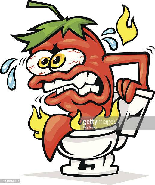 pepper toilet - defecating stock illustrations, clip art, cartoons, & icons
