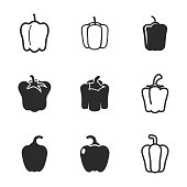 Pepper vector icons.