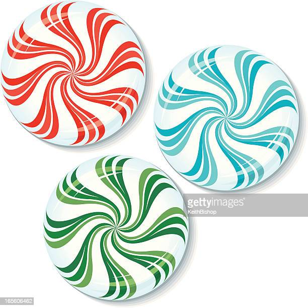 peppermint - breath mint candy - mint leaf culinary stock illustrations, clip art, cartoons, & icons