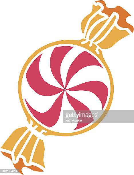 peppermint candy - mint leaf culinary stock illustrations, clip art, cartoons, & icons