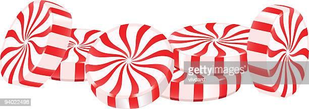 ペパーミント菓子 - ペパーミント点のイラスト素材/クリップアート素材/マンガ素材/アイコン素材