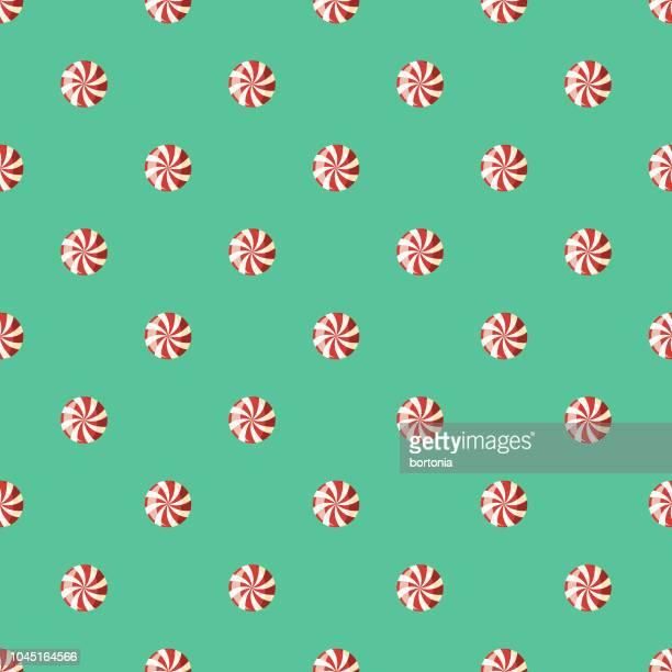 ペパーミントの甘いデザートのシームレス パターン - ペパーミント点のイラスト素材/クリップアート素材/マンガ素材/アイコン素材