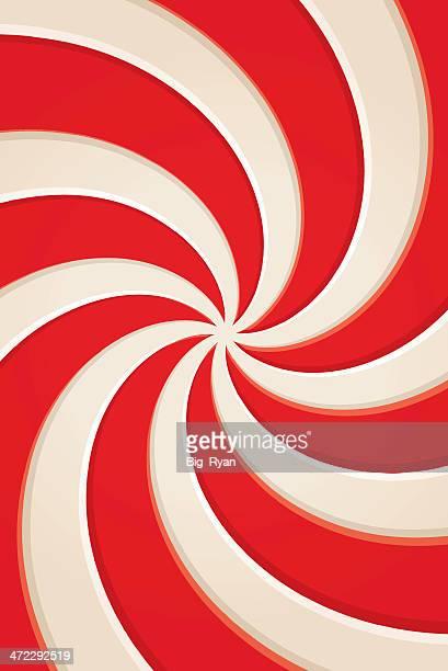 ペパーミントの渦巻き - ペパーミント点のイラスト素材/クリップアート素材/マンガ素材/アイコン素材