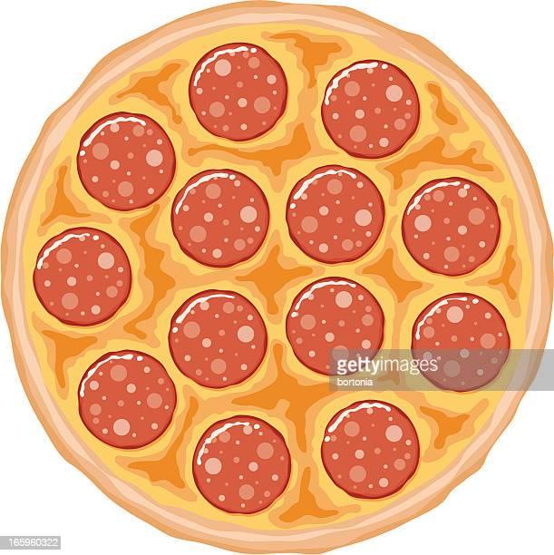 ilustraciones, imágenes clip art, dibujos animados e iconos de stock de pizza de chorizo - pizza