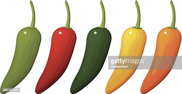 peppers - red chili pepper stock illustrations, clip art, cartoons, & icons