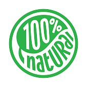 100 percent natural label