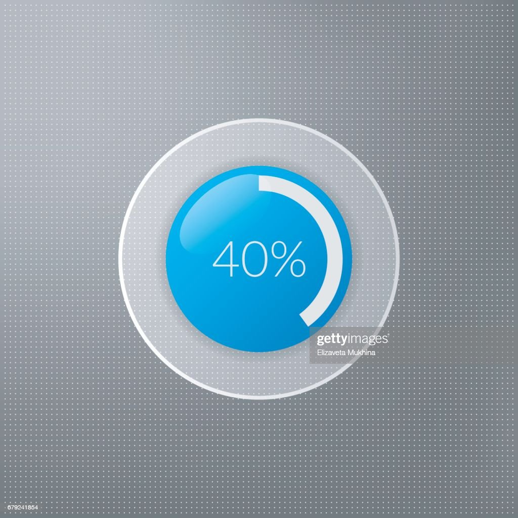 40 Percent Pie Chart Icon Percentage Vector Infographics Circle
