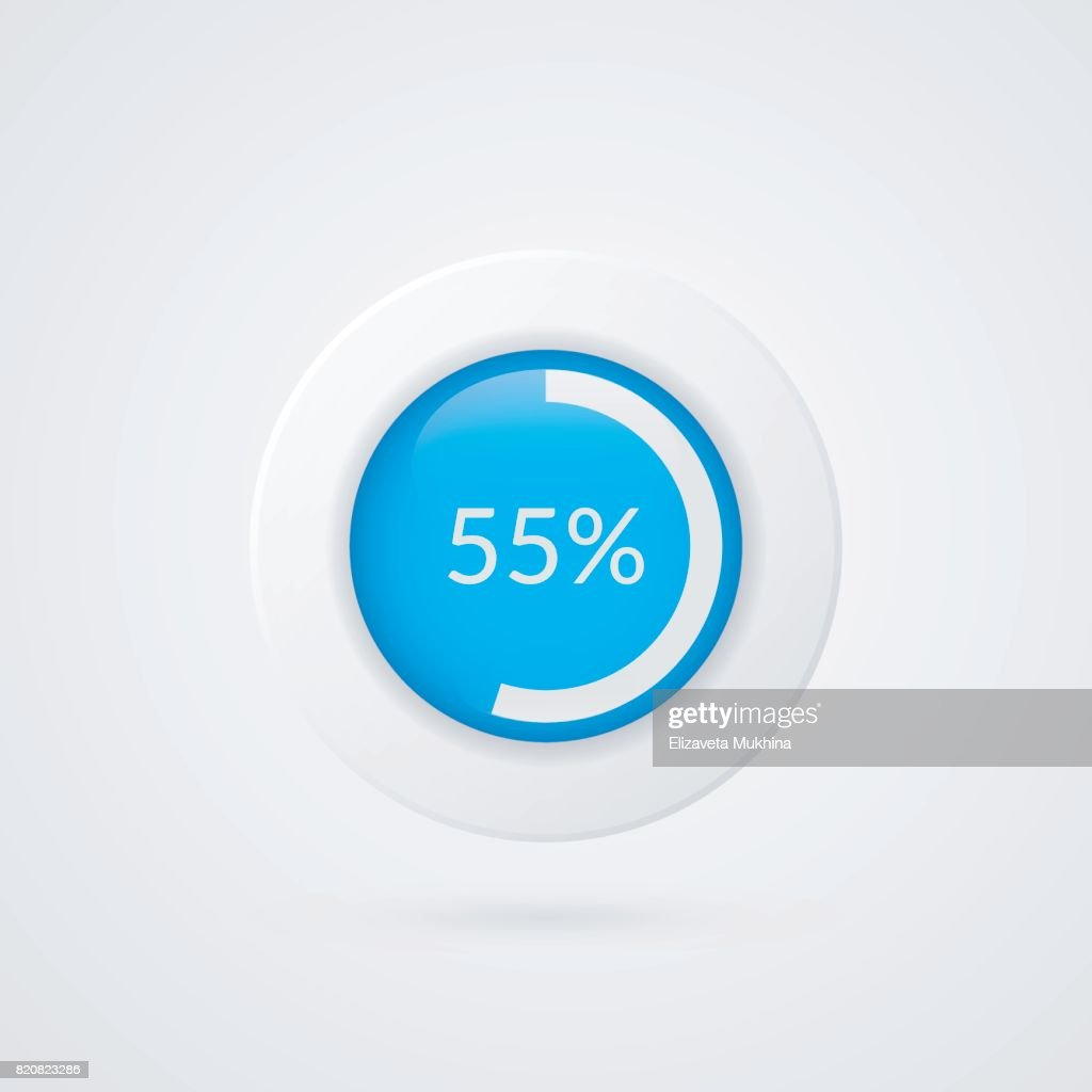 55 percent pie chart percentage vector infographics circle diagram 55 percent pie chart percentage vector infographics circle diagram isolated symbol business illustration icon for marketing presentation project ccuart Images