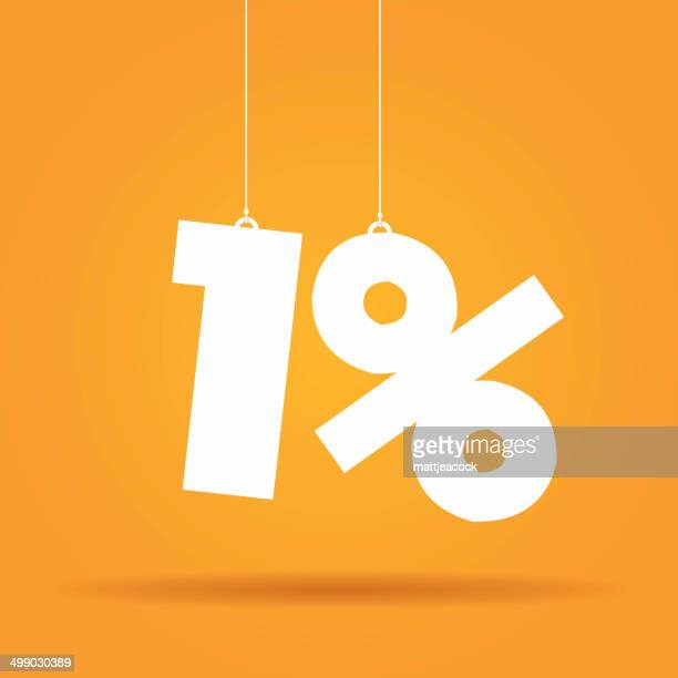 percentage hanging label - number 1 stock illustrations, clip art, cartoons, & icons